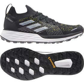 adidas TERREX Two Parley Trail Running Shoes Men, core black/feather white/solar yellow